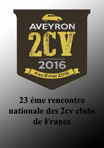 Rencontre nationale des 2cv clubs de france 2016