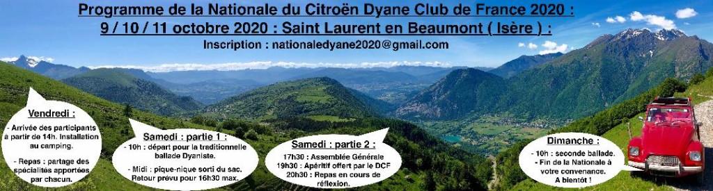 Programme AG 2020 Dyane Club de France